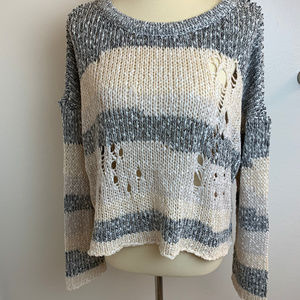 NWT Wildfox Haven Distressed Split Back Sweater M
